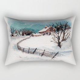 The Winter Barn Rectangular Pillow