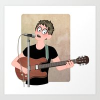 lou reed Art Prints featuring Lou Reed by Lili's Damn Fine Shop