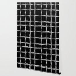 Chain Plaid on Black Wallpaper