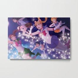 Falling senshi Metal Print