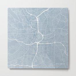 Atlanta Map, USA - Slate Metal Print