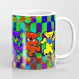 Grateful Dead Dancing Bears Colorful Psychedelic Characters #2 Coffee Mug