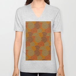Desert Circles - Burnt Orange Unisex V-Neck