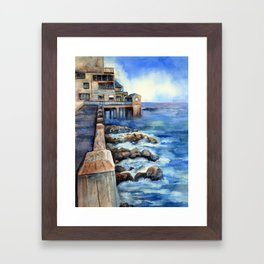 Walking with Steinbeck on Cannery Row Framed Art Print