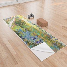 12,000pixel-500dpi - Vincent van Gogh - Garden At Arles, Flowering Garden With Path Yoga Towel