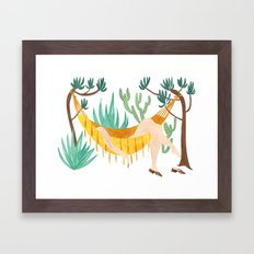 Hamac Chillin Framed Art Print