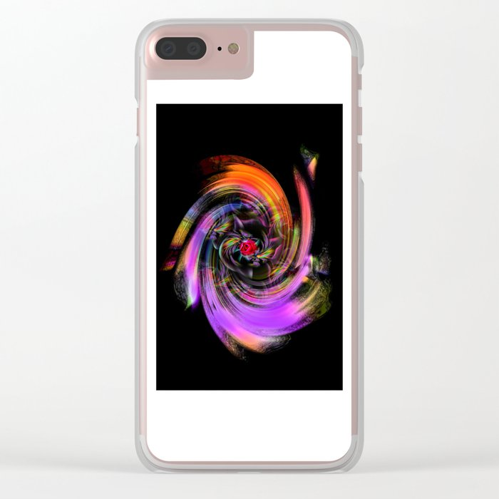 Flowers magic roses 7 Clear iPhone Case