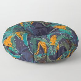 Midnight Jungle Floor Pillow