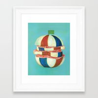 dragon ball Framed Art Prints featuring Ball by colorlabo