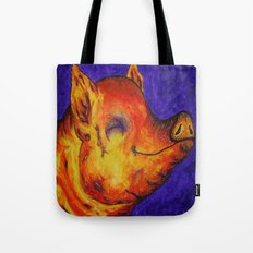 Pig, Happy Tote Bag