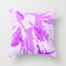 Intimate Purple Throw Pillow