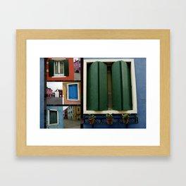 The windows of Venice Framed Art Print