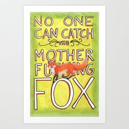 Mother-Foxer Art Print