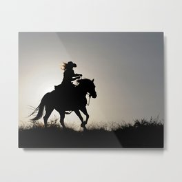 Cowgirl Adventure Metal Print