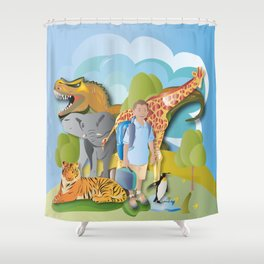 A Fantastic Journey Shower Curtain
