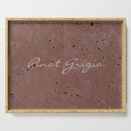 Pinot Grigio Wine Red Travertine - Rustic - Rustic Glam - Hygge Serving Tray