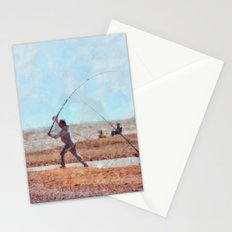 Beach Casting At Dungeness Stationery Cards