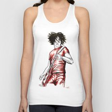 Jack White Red Watercolor Unisex Tank Top