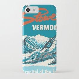 Stowe, Vermont Vintage Ski Poster iPhone Case
