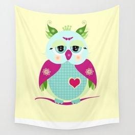 Purple Owl Wall Tapestry