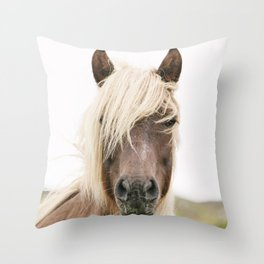 Horse V2 Throw Pillow