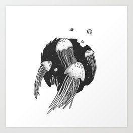 SpaceJelly Art Print