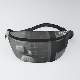 'Strictly No Elephants' vintage humorous child verses the world black and white photograph / black and white photography Fanny Pack