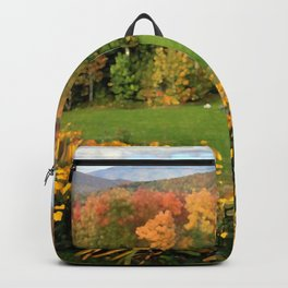 Vermont Foliage Watercolor Backpack
