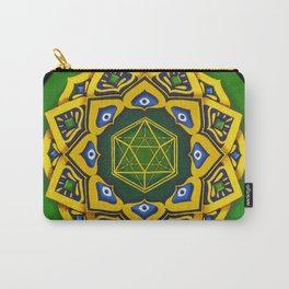 """Sacred geometry"" Green mandala by Ilse Quezada Carry-All Pouch"
