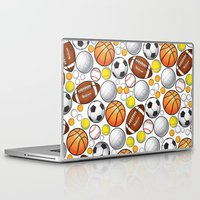 sport Laptop & iPad Skins featuring Sport Balls by Martina Marzullo Art