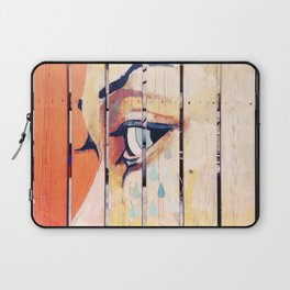 Figure crying girl on the fence Laptop Sleeve