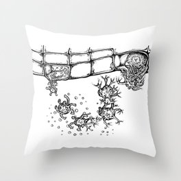 Proteolytic Processing of Coronavirus Fusion Proteins Throw Pillow