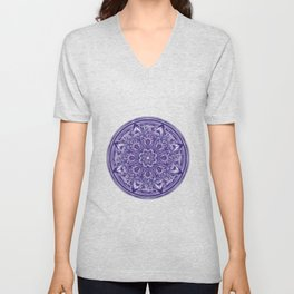 Great Purple Mandala Unisex V-Neck