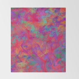 ABSTRACT - COLOR - SMOKE - RED Throw Blanket