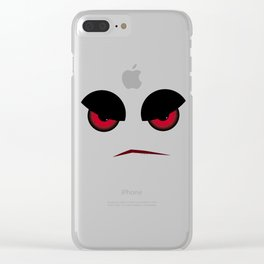 Halloween Evil Face Looking At You Clear iPhone Case