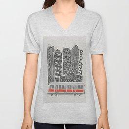 Boston City Illustration Unisex V-Neck