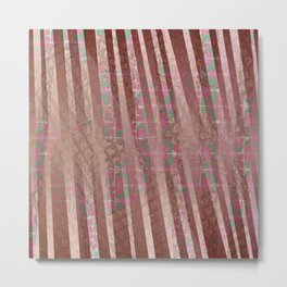Flowers and lines S12 Metal Print