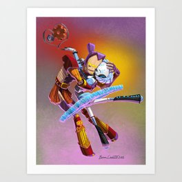 Grand Pas des Deux Robots dans l'Amour  (Grand Pas des Deux Robots in Love) Art Print