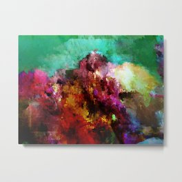 glitch cloud 1. Metal Print