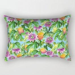 Passiflora vines light blue Rectangular Pillow
