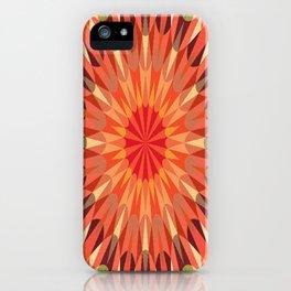 Living Coral Retro Geometry Earth Tones iPhone Case