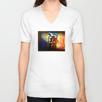 acid V-neck T-shirts featuring Acid / Bass by Danielle Tanimura