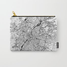 Brussels White Map Carry-All Pouch