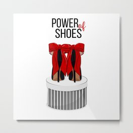 Power of shoes Metal Print