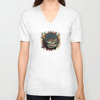 gorilla V-neck T-shirts featuring Gorilla by Exit Man