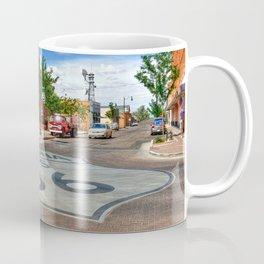 Standin on the Corner Route 66 in USA Coffee Mug