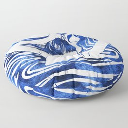 Water Nymph IV Floor Pillow