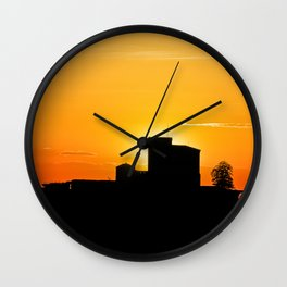 Trifels castle in dawn Wall Clock