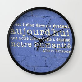 Thus Spake Albert Einstein Wall Clock