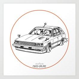 Crazy Car Art 0213 Art Print